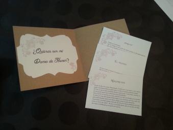 Invitación a dama de honor