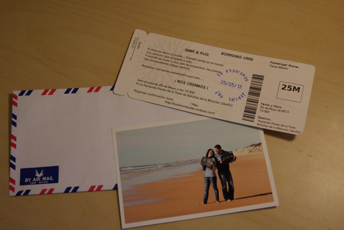 DiY: Invitaciones en forma de billete de avión | Mi boda diy