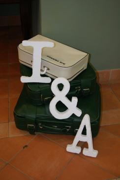 letras corporeas con nuestras iniciales