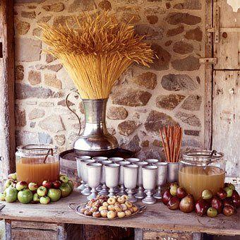 decoracion apple cider bar