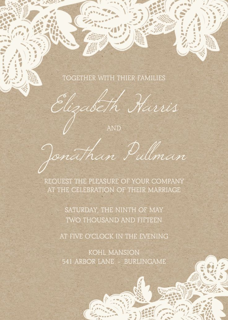 Lace Baptism Invitations as amazing invitation example
