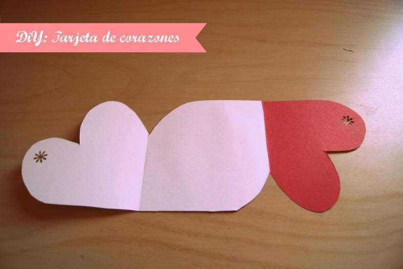 tarjeta corazones diy