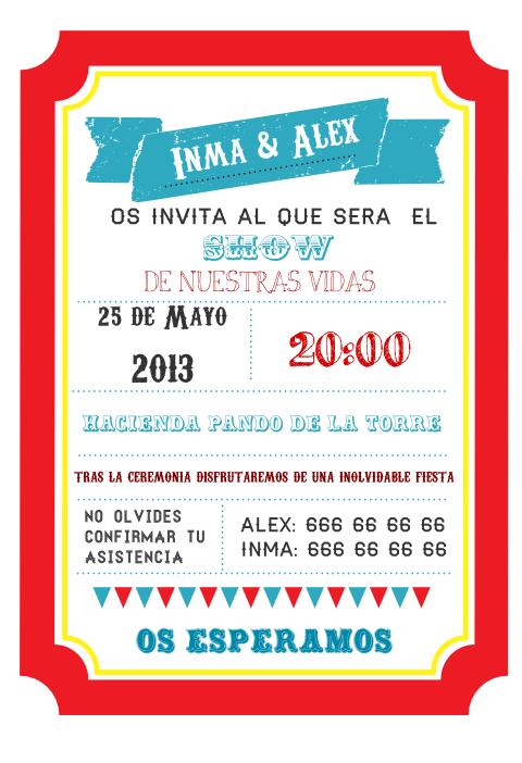 invitación circo imprimible