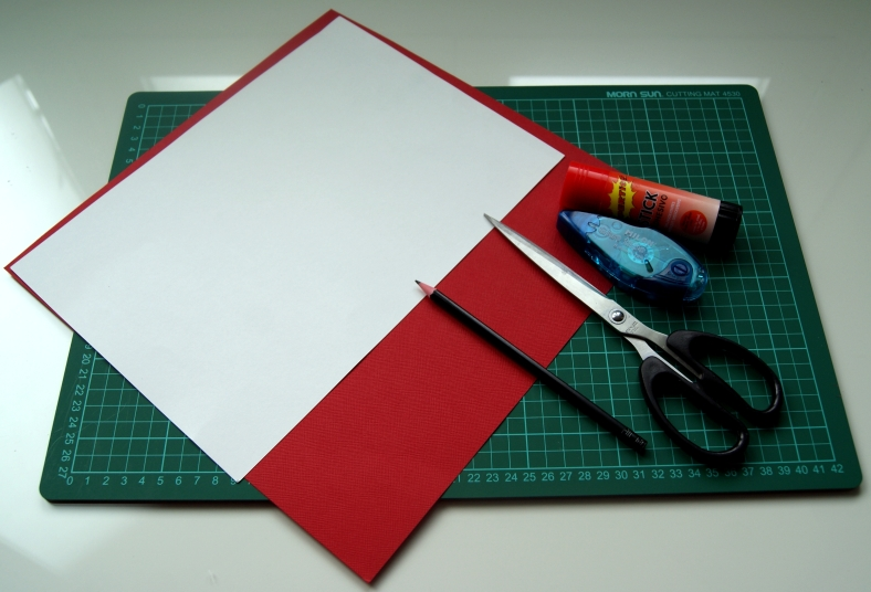 materiales tarjeta de corazones