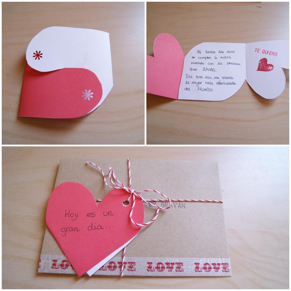 Una tarjeta para san valentin diy mi boda diy - Como hacer cosas de papel paso a paso faciles ...