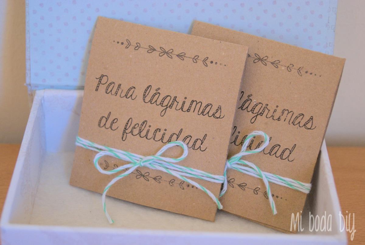 DiY: Pañuelos para lágrimas de felicidad