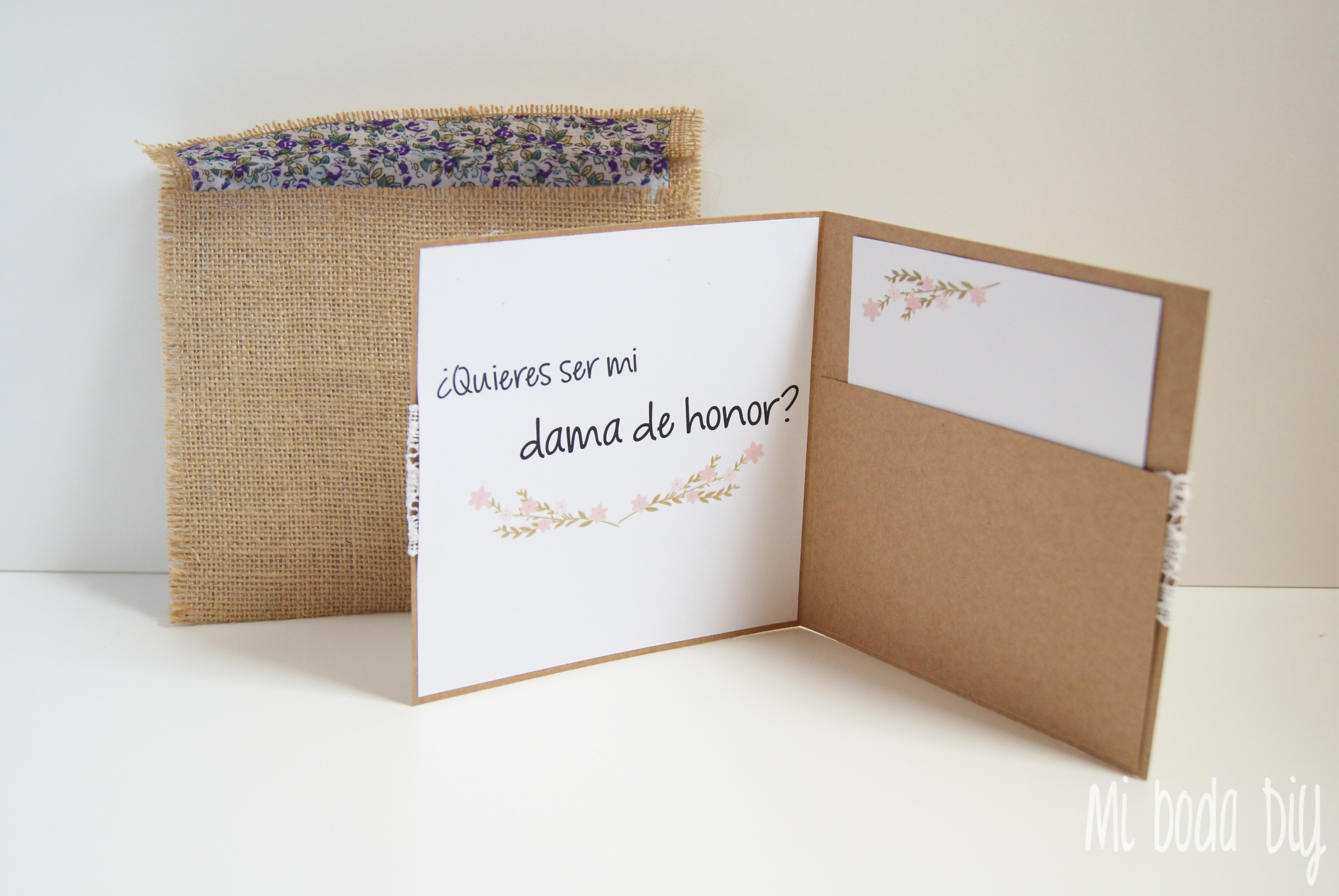 Imprimible ¿Quieres ser mi dama de honor? | Mi boda diy
