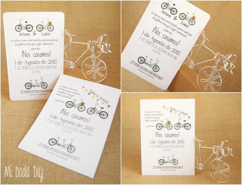 invitaciones bicis
