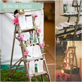 decora tu boda con escaleras