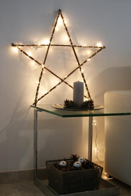 estrella iluminada decoracion navideña